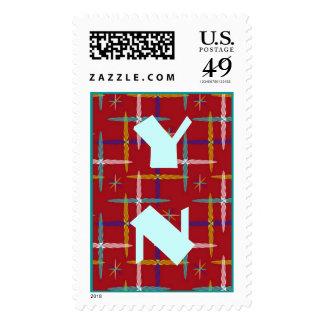 Monograma tribal moderno de la tela escocesa sellos
