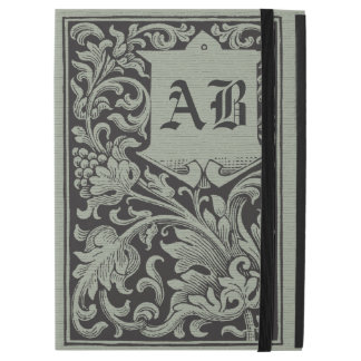 Monograma único de la cubierta de libro del