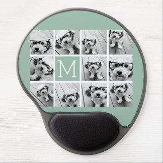 Monograma único del personalizado del collage de alfombrilla con gel