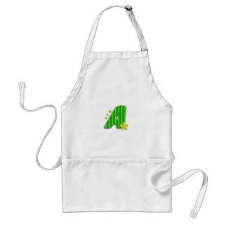monograma verde A Delantal