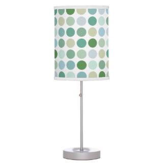 Monograma verde colorido elegante del modelo de lámpara de escritorio