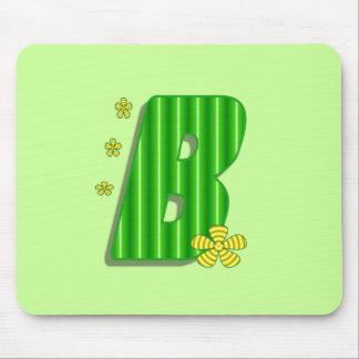monograma verde de b alfombrilla de raton