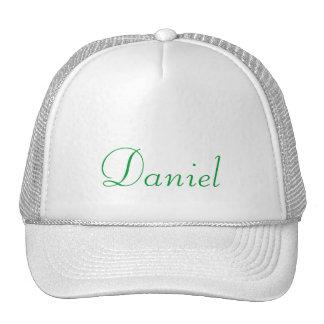 Monograma verde de encargo y plantilla en blanco gorra