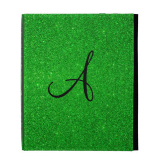 Monograma verde del brillo