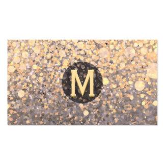 Monograma veteado tarjetas de visita