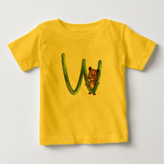 Monograma W de BabyBear Toon Camiseta