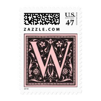 """Monograma """"W """" del vintage Timbres Postales"""