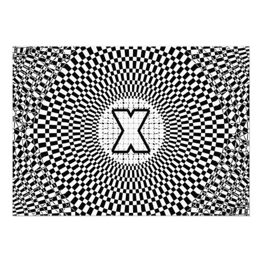 Monograma X de la ilusión óptica