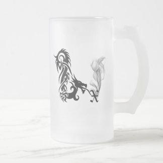 Monograma X del dragón Tazas De Café