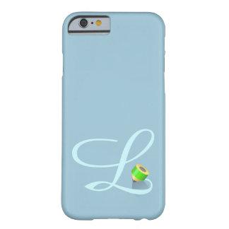 """Monograma y creyón, tema helado, letra """"L"""" Funda Para iPhone 6 Barely There"""
