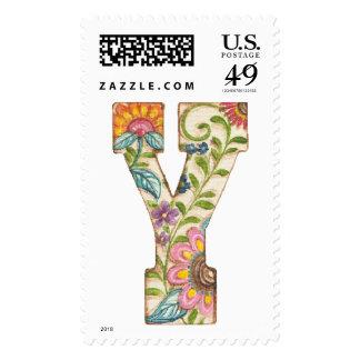"""Monograma """"Y"""" del jardín de Olivia por Kate Sellos"""