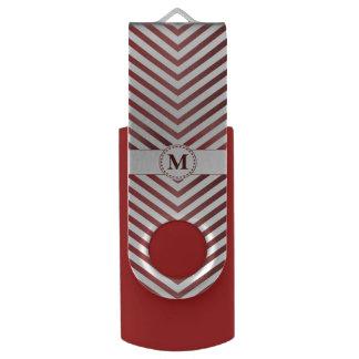 Monograma y galones rojos 2 - memoria USB del