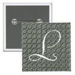 Monograma y Mosaico marroquí de azulejos Pin