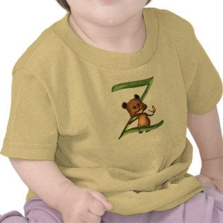 Monograma Z de BabyBear Toon Camisetas