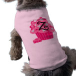 Monograma Z de la magdalena de la tarjeta del día  Ropa De Perro