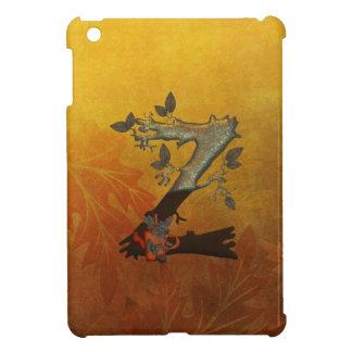 Monograma Z del árbol del otoño