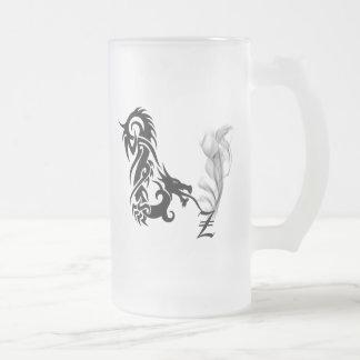 Monograma Z del dragón Tazas