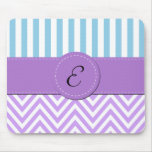 Monograma - zigzag (Chevron) - azul púrpura