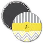 Monograma - zigzag (Chevron) - blanco gris amarill