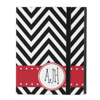 Monograma - zigzag (Chevron) - rojo negro blanco