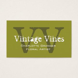Monogramas adaptables de la tarjeta de visita del