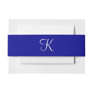 Monogramas azul marino cintas para invitaciones