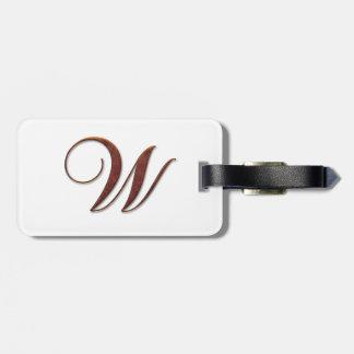 Monogramas de bronce de la arcilla etiquetas bolsa