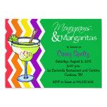 Monogramas e invitación de los Margaritas Invitación 12,7 X 17,8 Cm