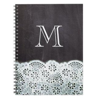 monogramas franceses femeninos de la pizarra del cuadernos