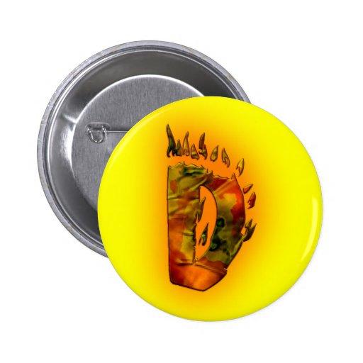 Monogramas: Fuegos artificiales D Pin Redondo 5 Cm