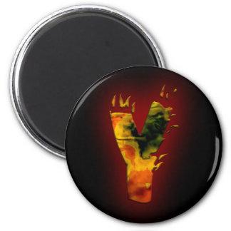 Monogramas: Fuegos artificiales Y Imán Redondo 5 Cm