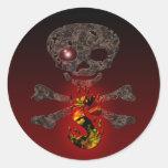 Monogramas: Red Eye S Etiqueta Redonda