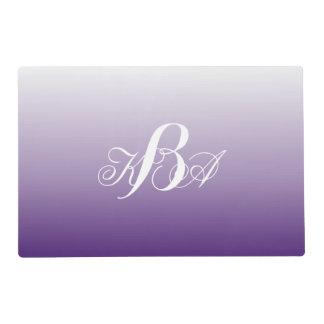monogramas románticos de la púrpura del ombre de tapete individual