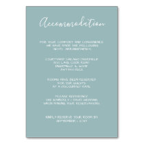MonogramCrest Gold Dusty blue Wedding cards