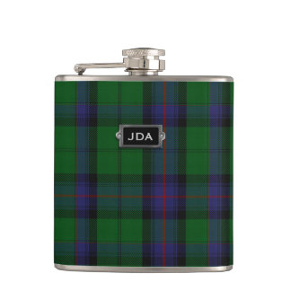 Monogramed Clan Armstrong Tartan Plaid Flask