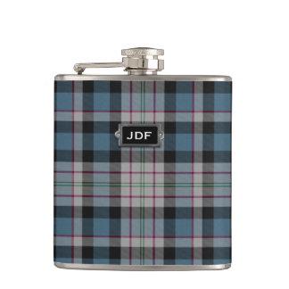 Monogramed Clan Ferguson Tartan Plaid Flask
