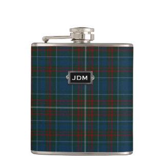Monogramed Clan MacConnell Tartan Plaid Flask