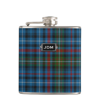 Monogramed Clan MacDonald Tartan Plaid Flask