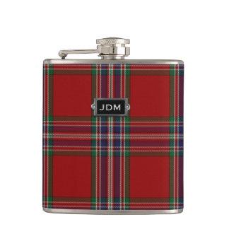 Monogramed Clan MacFarlane Tartan Plaid Flask