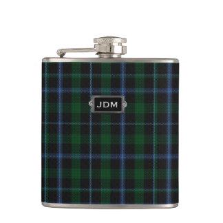 Monogramed Clan Murray Tartan Plaid Flask