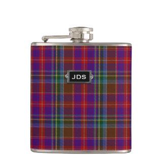 Monogramed Clan Stuart Tartan Plaid Flask