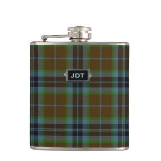 Monogramed Clan Thomson Tartan Plaid Flask