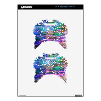 Monogramed Colorful Abstract Melting Class Xbox 360 Controller Decal
