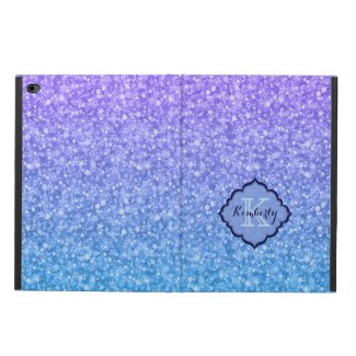 Monogramed Colorful Glitter And Sparkles Pattern
