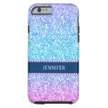 Monogramed Colorful Retro Glitter & Diamonds Tough iPhone 6 Case
