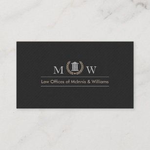 Law firm business cards zazzle monogramed courthouse business card reheart Choice Image