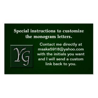 Monogramed de encargo profesional plantillas de tarjetas de visita