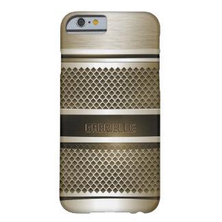 Monogramed deslustró la plata metalizada y el puré funda barely there iPhone 6