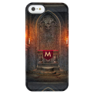 Monogramed Gothic Interior Architecture Clear iPhone SE/5/5s Case