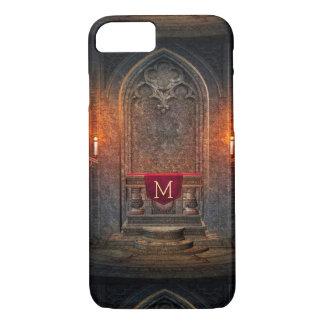 Monogramed Gothic Interior Architecture Element iPhone 7 Case